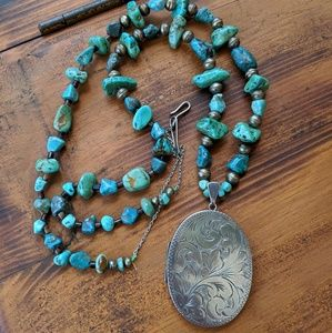 Jewelry - Made by me 🌈 Sterling turquoise necklace